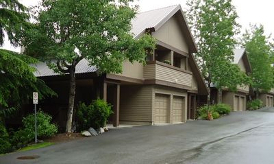 Whistler townhome rental - Outside view of home with its own carport