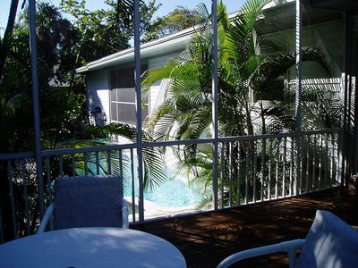 Pine Island house rental - Pool from Lanai