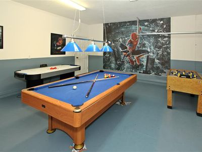 Haines City villa rental - Spider Man theme game room