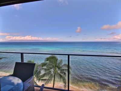 Incredible Views of the Islands of Molokai and Lanai from your private lanai