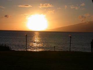 Honokowai condo photo - Beautiful Hawaiian Sunset from the Condo