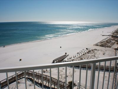 View from private balcony. Direct Gulf Front, located on the 8th Floor. Bldg. 3