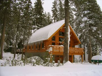 Soda Springs cabin rental - Palisade Tree House in early winter at 7000ft.