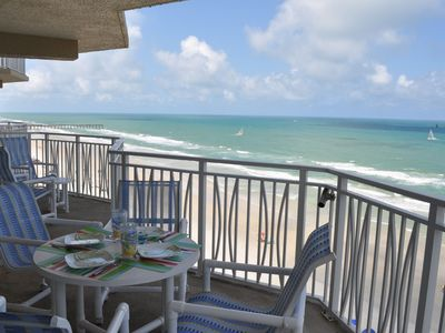 Extra-large oceanfront balcony - end unit condo