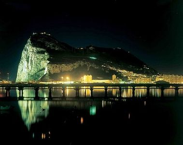 Gibraltar apartment rental - Gibraltar by night