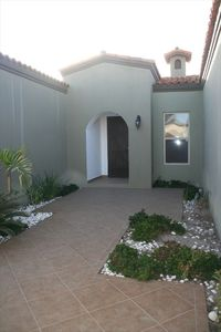 Front private courtyard and entry