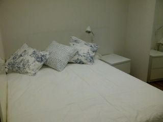 Chelsea apartment photo - BEDROOM WITH DOUBLE BED,LAMP,NIGHT TABLE AND WARDROBE