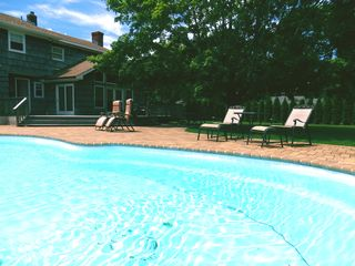 Hampton Bays house photo - Pool and house