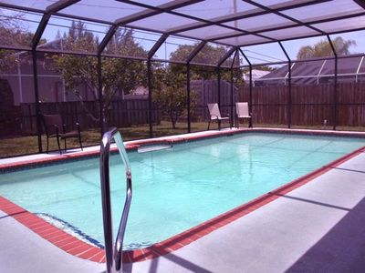 Amazing 30'x15' Heated Pool and private backyard with tropical fruit trees.