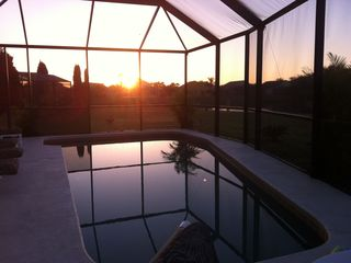 Crescent Lakes villa photo - sunrise at the pool