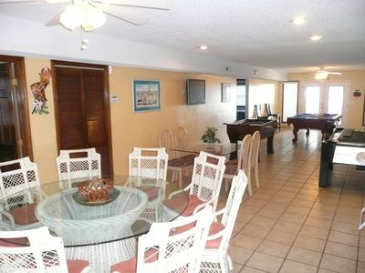 Crescent Beach house rental - Dining area on first floor with game room