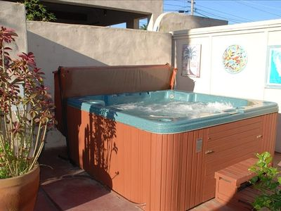 6 person hot tub on the Casita patio.