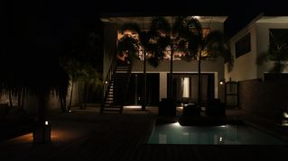 Bonaire villa photo - At night... kasdaasbonaire.com