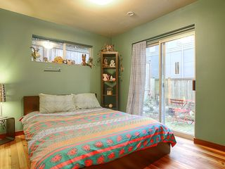 Seattle townhome photo - First Bedroom with sliding glass door out to Koi Pond