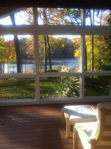 Enjoy the lake view from a porch