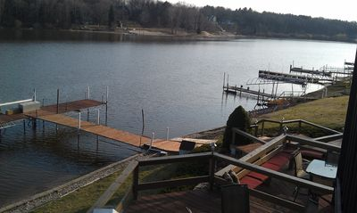 Saugatuck / Douglas house rental - View of Dock Lake to the West from Deck