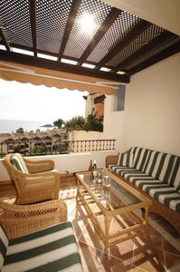 Altea apartment rental - Relax with drinks on the terrace