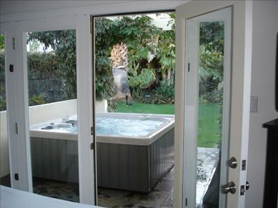 Hot Tub off 2nd Master Bedroom. Patio leads out to yard and garden. Very Private