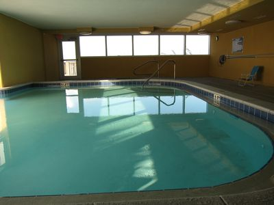 Tropic Winds condo rental - Indoor Pool (indoor part of the indoor/outdoor pool)