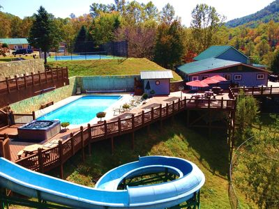 THE CAMP - 150-acre estate w/ 4 luxury houses, heated pool and 150ft water slide