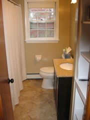 Newly Remodeled Downstairs Bath with Bathtub - Brewster cottage vacation rental photo
