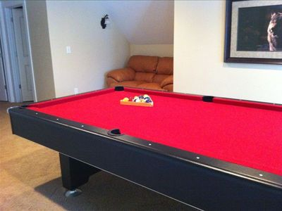 Loft with pool table
