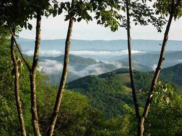 Beech Mountain house rental - Beautiful View of 3 states & 7 Meadows from 2 levels & 40 ft decks