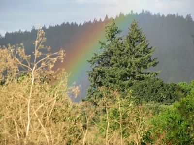 Rainbow and Amity Hills looking out from Master bedroom