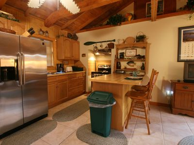 Nice appliances and a fully-furnished kitchen to feed your hungry crew.