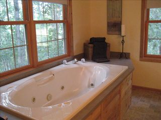 Massanutten house photo - .Jacuzzi Tub with forest views