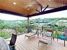 Patio - Huge new composite deck with outdoor table, 4 loungers and outdoor umbrellas.