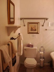 Charming Full Bathroom with Clawfoot tub/Shower Combo