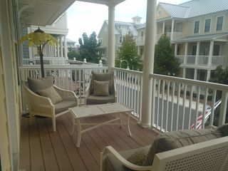 Sunset Island Ocean City townhome photo - Nice Views from this main floor deck
