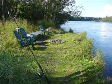 Soldotna townhome rental - Relax or fish from our private riverbank