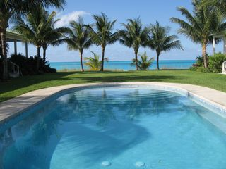Treasure Cay house photo - Ocean view from pool with steps and seating all around