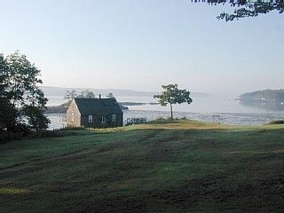 Westport Island cottage photo - A misty morning