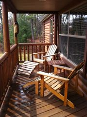 Wisconsin Dells cabin photo - front porch