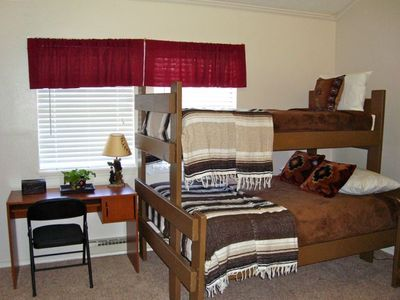 Third Bedroom--Sleeps 6--2 Bunk Beds (4 twins plus 1 full) desk and large closet