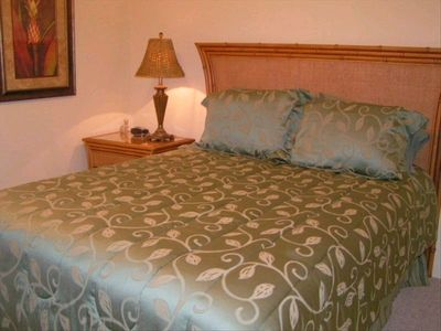 Guest bedroom with large closet, all rooms have air conditioning