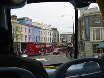 Notting Hill Gate view through a taxi window...