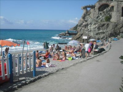 The beautiful 'Il Gigante' beach directly across the street from La Raganella