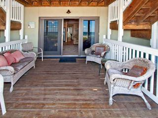 Fernandina Beach condo photo - Covered deck