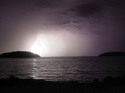 Summer 2009 electrical storm, picture taken off our deck
