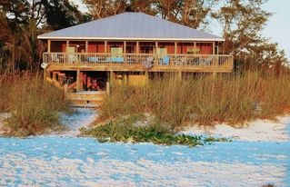 Little Gasparilla Island house photo - Front View From The Beach