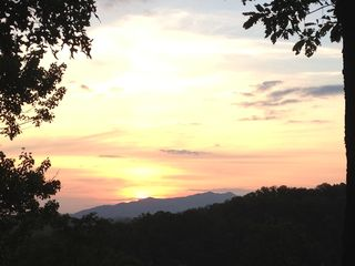 Gatlinburg cabin photo - View from covered deck at sunrise - stunning!!!