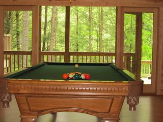 Ellijay cabin photo - Fantastic Pool Table on Terrace Level!
