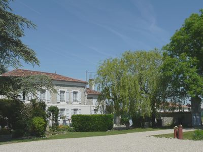 car park and the owners' house