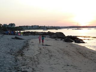Biddeford house photo - Sunset picnic overlooking sailboats anchored on the backside of the Pool