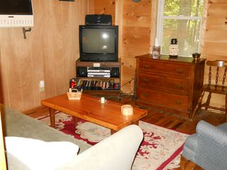 Green Lake cabin photo - Looking into TV room from laundry area