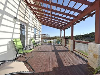 Hudson Bend house photo - Deck off of living room. Hill Country Views.
